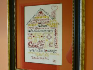 DHC Family room cross stitch