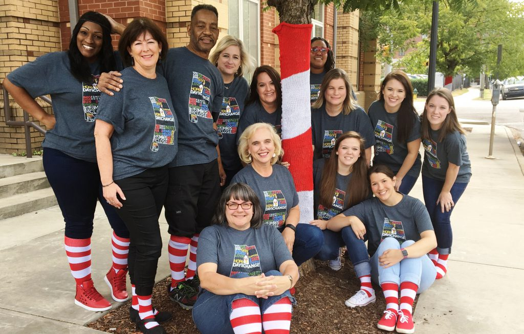 RMHCA Staff in Red and White socks
