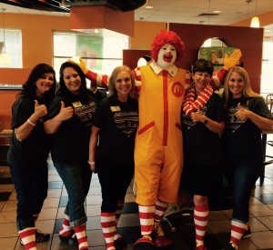Staff at Vestavia with Ronald