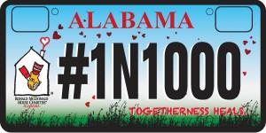 RMH License Plate AL.REV- 1N1000