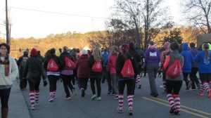 Red Shoe Run-Socks and Bags