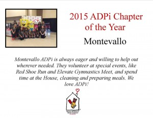 Thank you Montevallo ADPi!