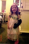 Young Violet with a cast