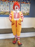 Ronald McDonald visits the House