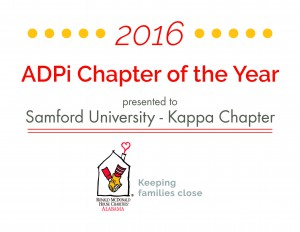 ADPi Chapter of the Year 2016