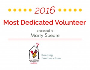 Most Dedicated Volunteer 2016