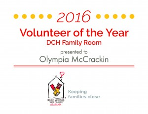 Volunteer of the Year 2016 - DCH FR