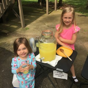 Abbey and Jenna Lemonade Stand