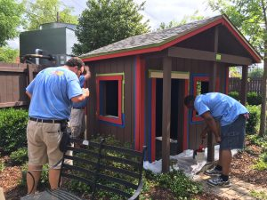 Carmax- replaces rotting wood, re painted playhouse