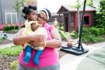 Farriah and Mom enjoy the playground