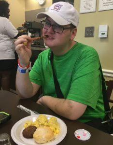 Nick eating Breakfast