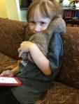 Mollie with her teddy bear
