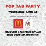 Pop Tab Party Wednesday, April 26 at Beltline McDonald's in Decatur
