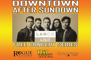 Logo for Downtown After Sundown featuring LANco