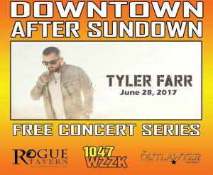 Downtown After Sundown flier Tyler Farr
