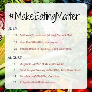 Make Eating Matter schedule
