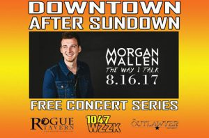 Downtown After Sundown poster with Morgan Wallen