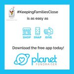 Image encouraging people to give to RMHCA through the Planet Fundraiser app.
