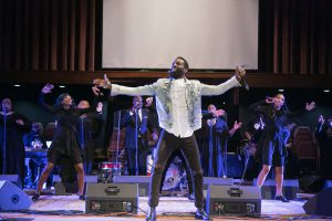 Artist Tye Tribbett opens the show. Photo: Ven Sherrod