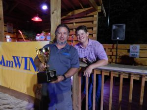 Chandeleur Island Brewing Company accepts their trophy.