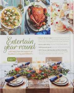 2017 Dillard's Southern Living Cookbook back cover
