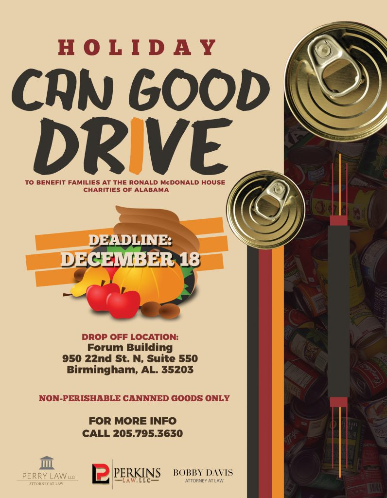 Holiday Canned Good Drive Flyer