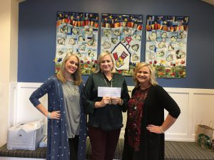 L-R: LuLaRoe consultant Jenny Massey, RMHCA Development Director Kathy Robson and LuLaRoe Coach Kim Griggs.
