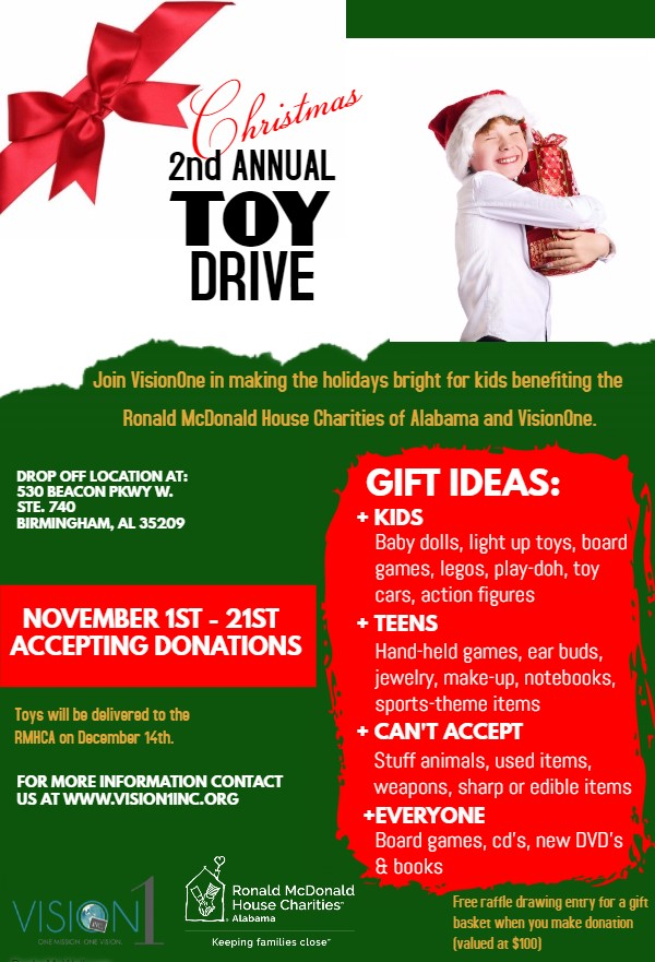 VisionOne Toy Drive Flyer