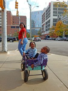 Ashley can easily take Ah'Nyla and Carson to the hospital to see E'mari.
