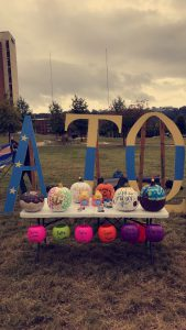 Alpha Tau Omega teamed up with UAB sororities for a pumpkin decorating contest. Source: Alpha Tau Omega