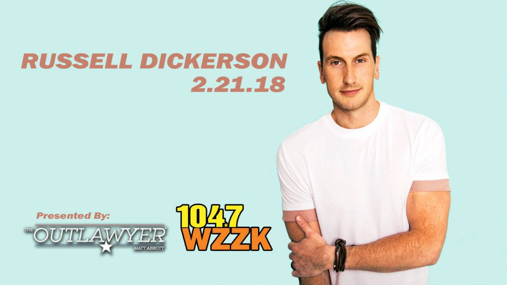 Downtown After Sundown flier for Russell Dickerson February 21, 2018