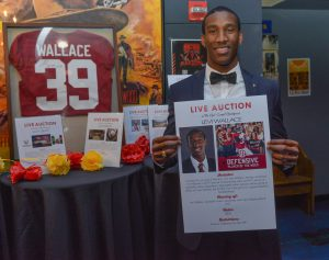 "Former Crimson Tide cornerback and NFL recruit Levi Wallace appeared as a special guest ""Star."""
