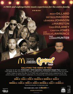 2018 McDonald's Inspiration Celebration Gospel Tour poster