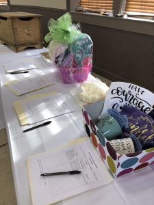 Local businesses and chapter members donated items for the Night for Ronald silent auction.