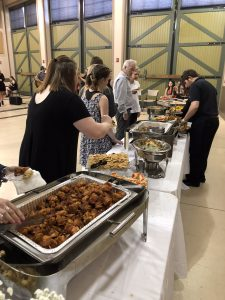 Attendees enjoyed dinner from Southern Skillet Catering.