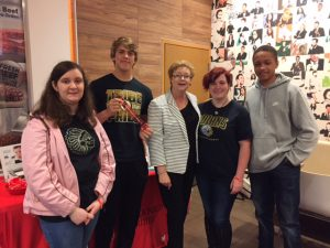 Colbert County High School students with McDonald's Owner/Operator Debbie Martin.