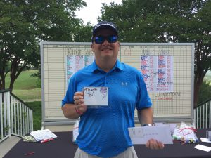 Eric Watts won Closest to the Pin on the Front 9 of the Ridge Course.