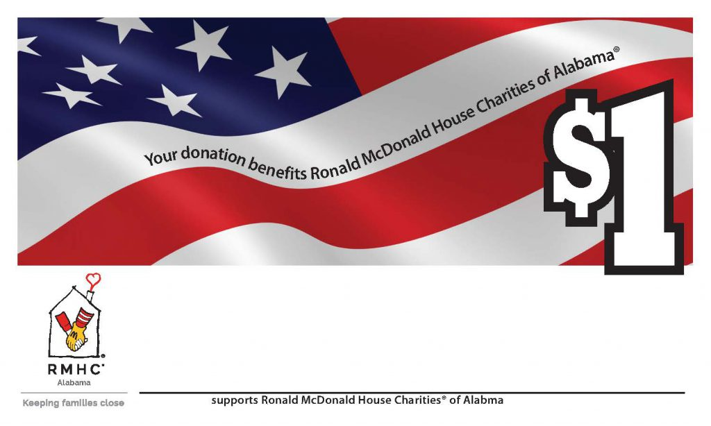 Share Your Stripes Flag donation sticky sheet