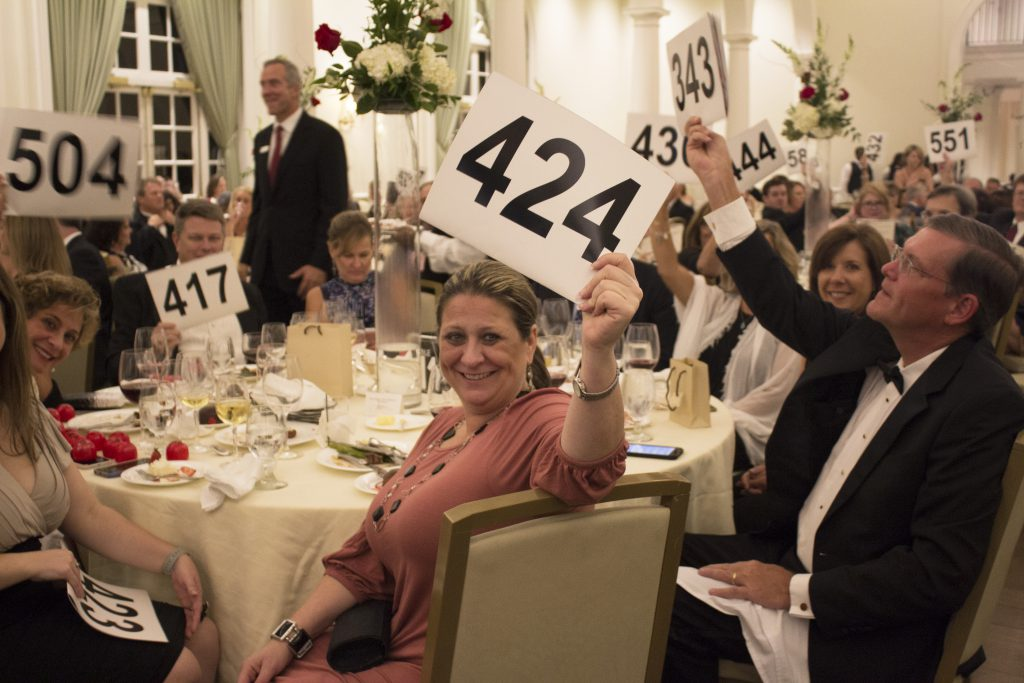 Guests bid at the 16th Annual Heart of the House Gala