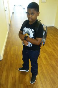 Braxton off to school. Source: Family photo