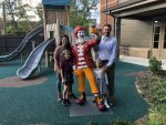 The McCarty family finishes a tour of the Ronald McDonald House.