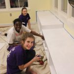 Prince of Peace Girl Scouts painting indoor playroom