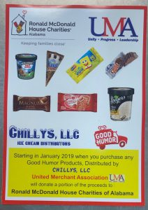 Chilly's LLC UMA ice cream giveback