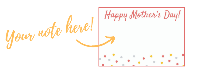 Example of the 2019 Mother's Day Notecard