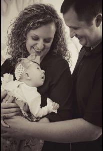Bryon, Hannah, and baby Cora Blake Chapman