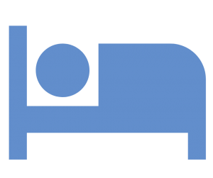 person in bed icon