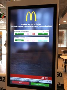 McDonald's Kiosk screen for Round-up for RMHC