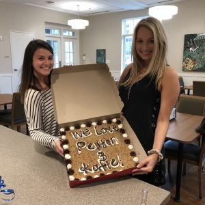 Interns Peyton and Katie pose for a photo at their going away.