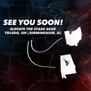 See you soon! Elevate 2020 in Toledo, Ohio and Birmingham, Alabama.