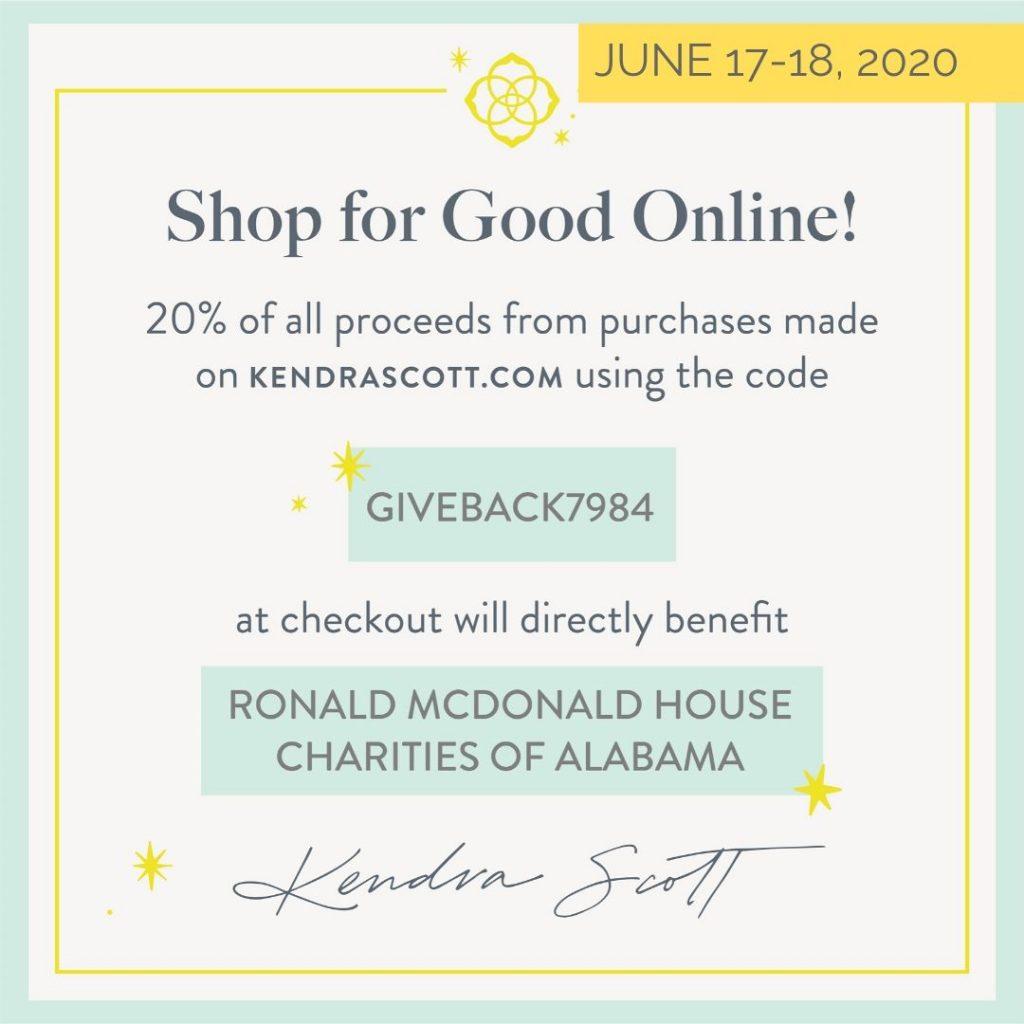 Kendra Scott June 17-18 Give Back